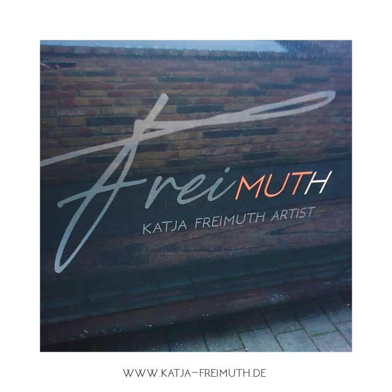 Katja Freimuth Post Logo on the road