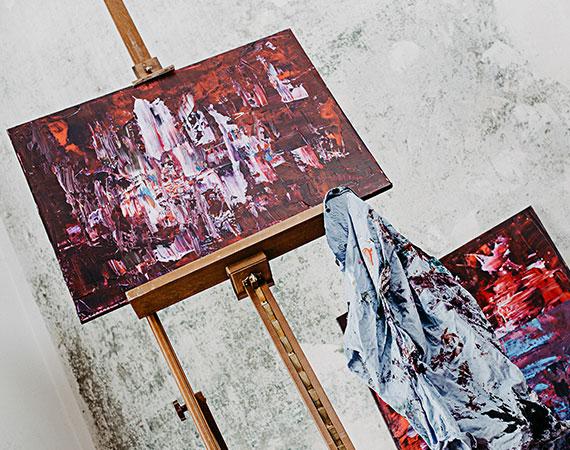 Katja Freimuth Kunstwerk auf Staffelei