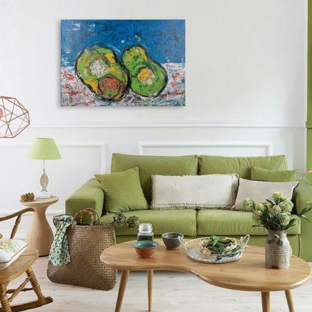 Katja Freimuth Shop Kunstwerk 78 Avocado mit Kulisse