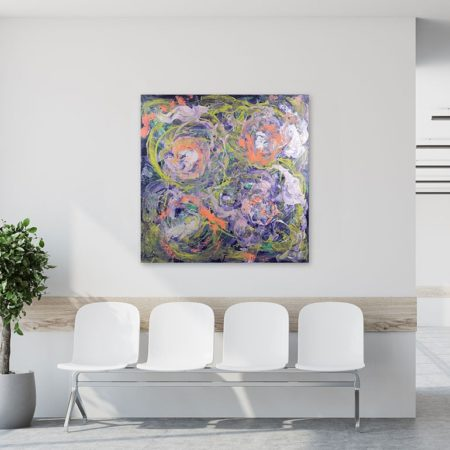 Katja Freimuth Shop Kunstwerk 72 Frühlingserwachen mit Kulisse