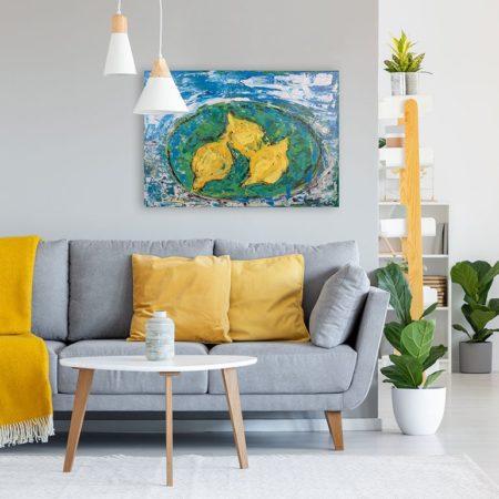 Katja Freimuth Shop Kunstwerk 79 Zitronen mit Kulisse