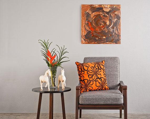 Katja Freimuth Kunstwerk 63 Wüstenblume mit Kulisse