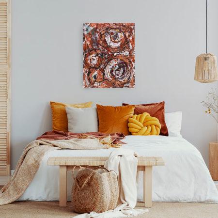 Katja Freimuth Shop Kunstwerk 54 Herbstrosen mit Kulisse