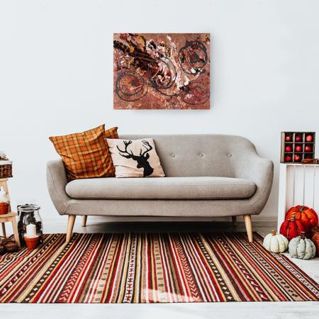 Katja Freimuth Shop Kunstwerk 56 Herbstrosen mit Kulisse