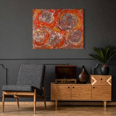 Katja Freimuth Shop Kunstwerk 60 Herbstrosen mit Kulisse