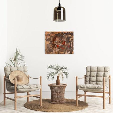 Katja Freimuth Shop Kunstwerk 61 Wüstenblume mit Kulisse