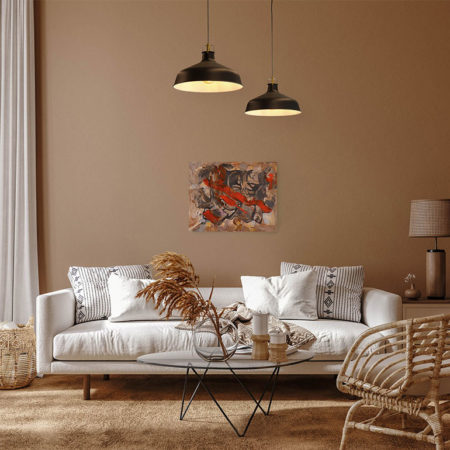 Katja Freimuth Shop Kunstwerk 62 Wüstenblume mit Kulisse